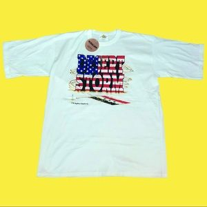 NWT 90s Desert Storm US Flag Graphic Tee Size XL